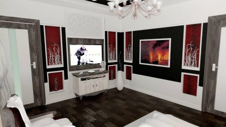 Вид с постели: Спальни в . Автор – Nada-Design Студия дизайна.,