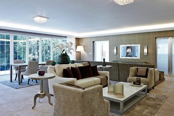 Virginia Water : classic Living room by Keir Townsend Ltd.