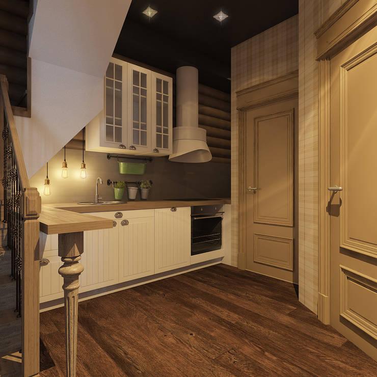 Гостевой  домик  г.Реж: Кухни в . Автор – Частный дизайнер и декоратор Девятайкина Софья