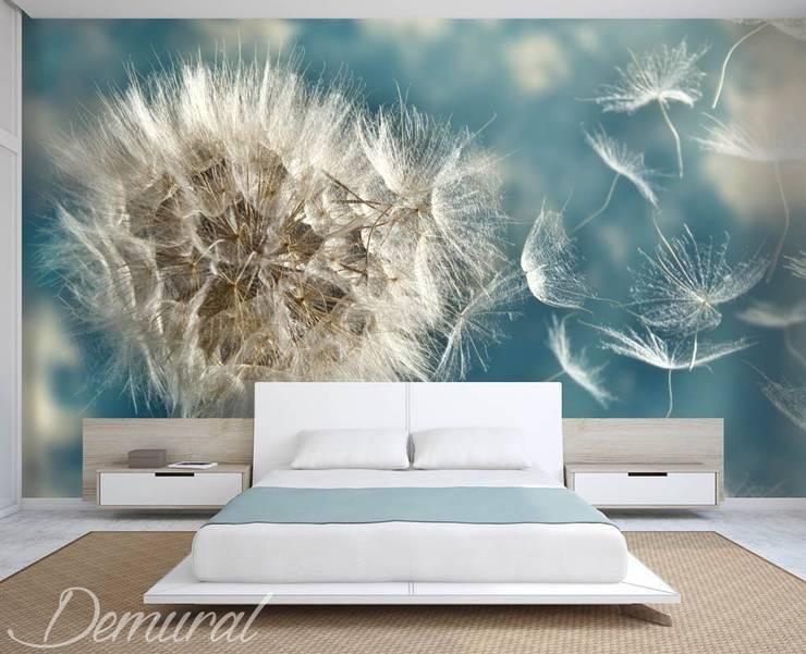 Dmuchawce rzucone na wiatr: styl , w kategorii Sypialnia zaprojektowany przez Demural.pl,