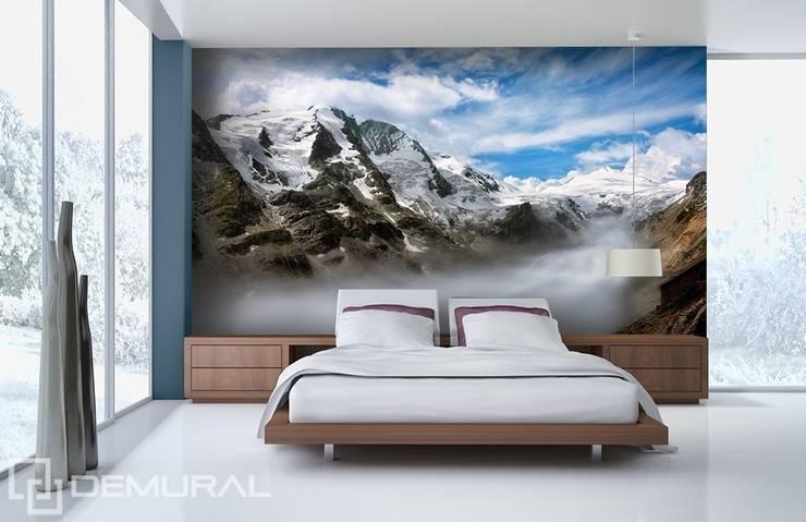 Dolina w chmurach: styl , w kategorii Sypialnia zaprojektowany przez Demural.pl,