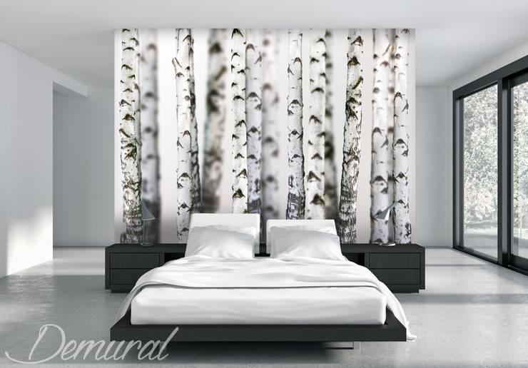 Drzewna kotara: styl , w kategorii Sypialnia zaprojektowany przez Demural.pl,