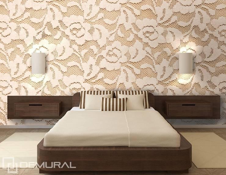 Koronkowe róże: styl , w kategorii Sypialnia zaprojektowany przez Demural.pl,