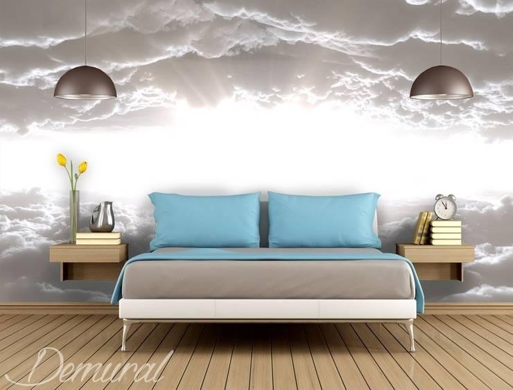 Trzy kroki do nieba: styl , w kategorii Sypialnia zaprojektowany przez Demural.pl,