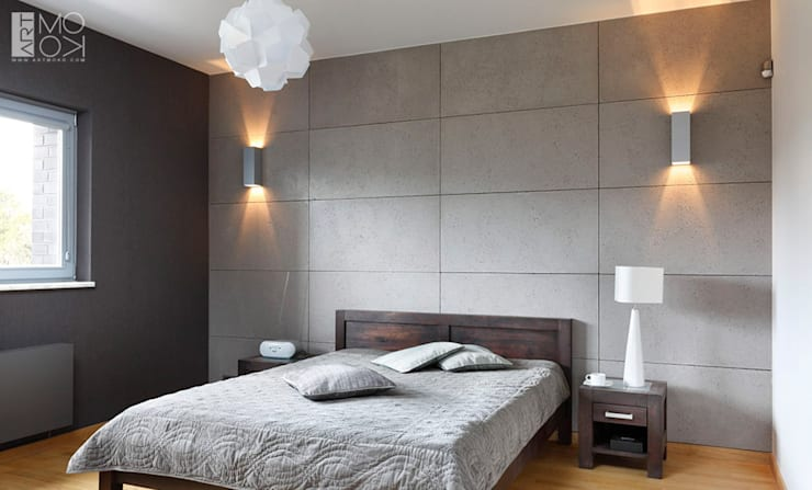 Industrialna sypialnia: styl , w kategorii Sypialnia zaprojektowany przez Pracownia projektowa artMOKO