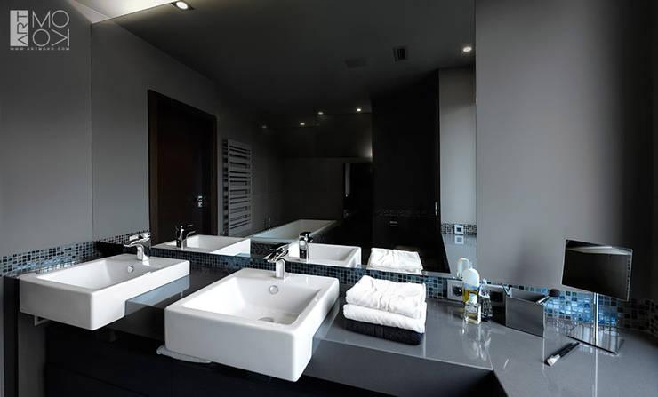 Łazienka dla dwojga: styl , w kategorii Łazienka zaprojektowany przez Pracownia projektowa artMOKO