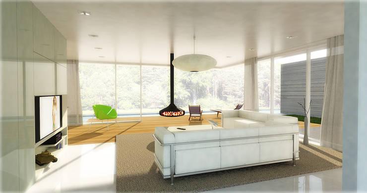 102 HOUSE OF TANKS: styl , w kategorii Domy zaprojektowany przez Zalewski Architecture Group