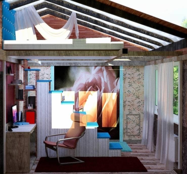 вид сбоку: Детские комнаты в . Автор – Nada-Design Студия дизайна.