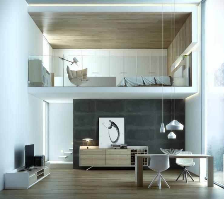 Espacios abiertos y mucho diseño : Salones de estilo escandinavo de Muebles Capsir