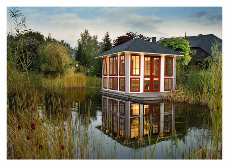 Chalet:  Garten von RIWO Gartenpavillons