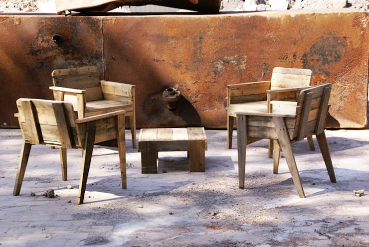 Salon Paolette : Jardin de style  par Nature Végétale