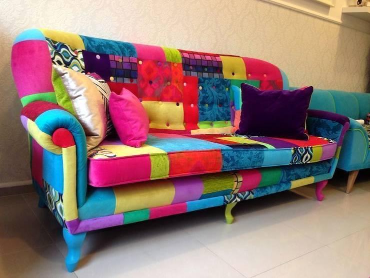 Sofa Patchwork: styl , w kategorii Salon zaprojektowany przez Juicy Colors