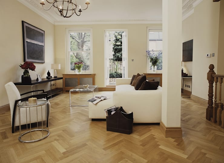 Parede e pavimento  por The Natural Wood Floor Company
