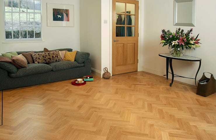 Solid Oak Prime Parquet :  Walls & flooring by The Natural Wood Floor Company