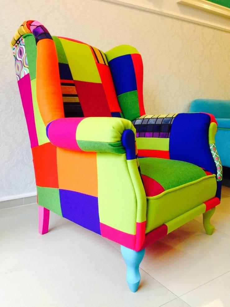 Fotel Patchwork Uszak : styl , w kategorii Salon zaprojektowany przez Juicy Colors