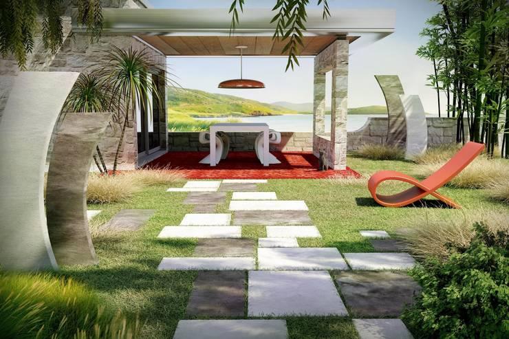 Ambiance Contemporaine - Dallage Lyas Bradstone: Jardin de style de style Moderne par BRADSTONE