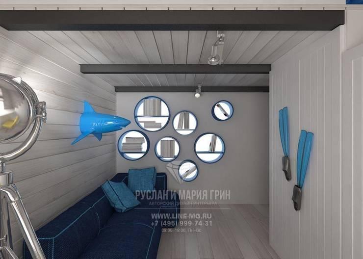 Интерьер детской комнаты в морском стиле стиле: Детские комнаты в . Автор – Студия дизайна интерьера Руслана и Марии Грин