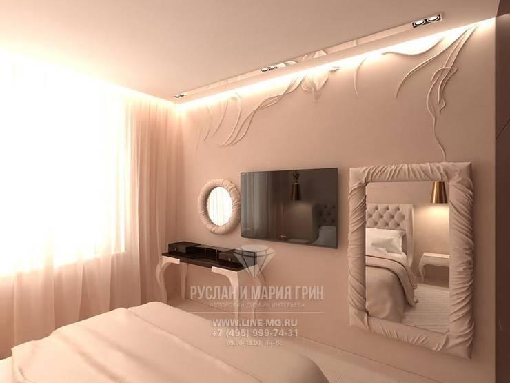 Дизайн интерьера спальни в стиле ар-нуво: Спальни в . Автор – Студия дизайна интерьера Руслана и Марии Грин, Модерн