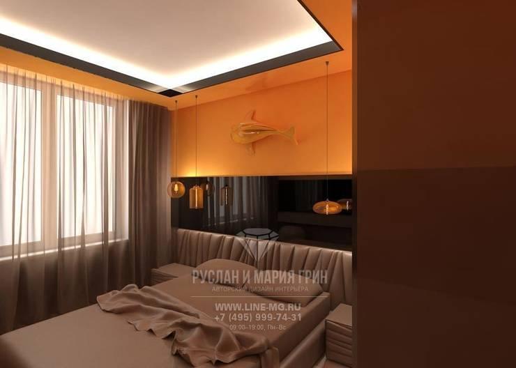 Дизайн интерьера спальни в современном стиле: Спальни в . Автор – Студия дизайна интерьера Руслана и Марии Грин, Модерн