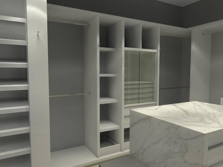 Projekty,  Garderoba zaprojektowane przez Arq. Jacobo Smeke