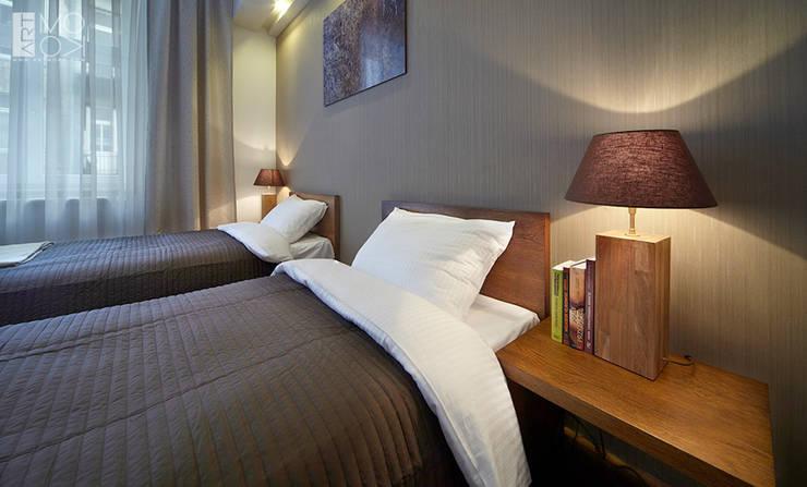 Dwuosobowa sypialnia: styl , w kategorii Sypialnia zaprojektowany przez Pracownia projektowa artMOKO