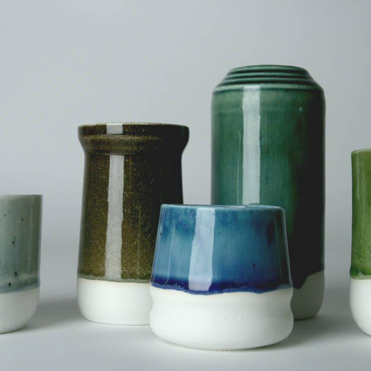 Enkel Glas:  Woonkamer door Studio Ineke van der Werff