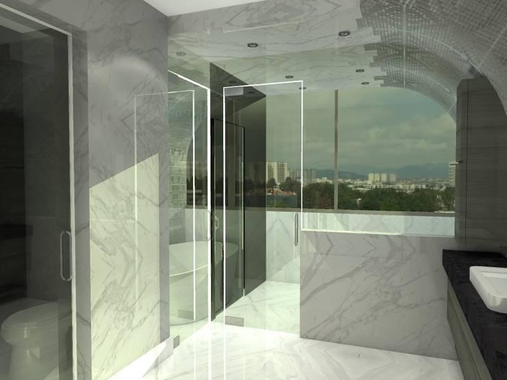 P14T2404: Baños de estilo  por Arq. Jacobo Smeke