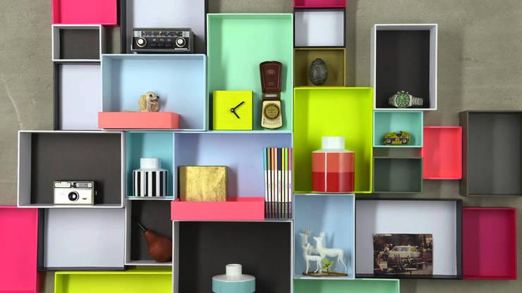 Etagère Pappap: Maison de style  par Singulier.com