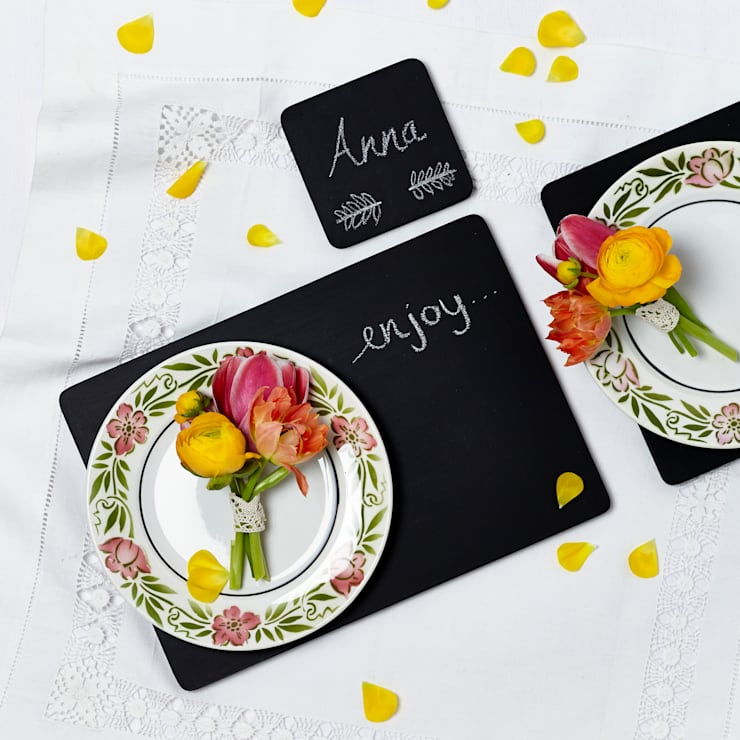 Chalkboard Placemats:  Dining room by Altered Chic
