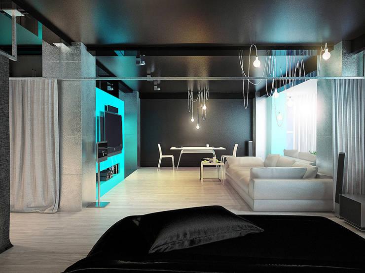 MinimaL-Loft: Гостиная в . Автор – Dmitriy Khanin
