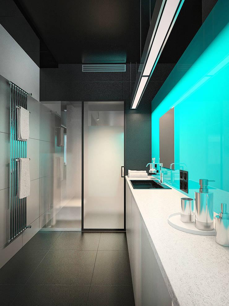 MinimaL-Loft: Ванные комнаты в . Автор – Dmitriy Khanin