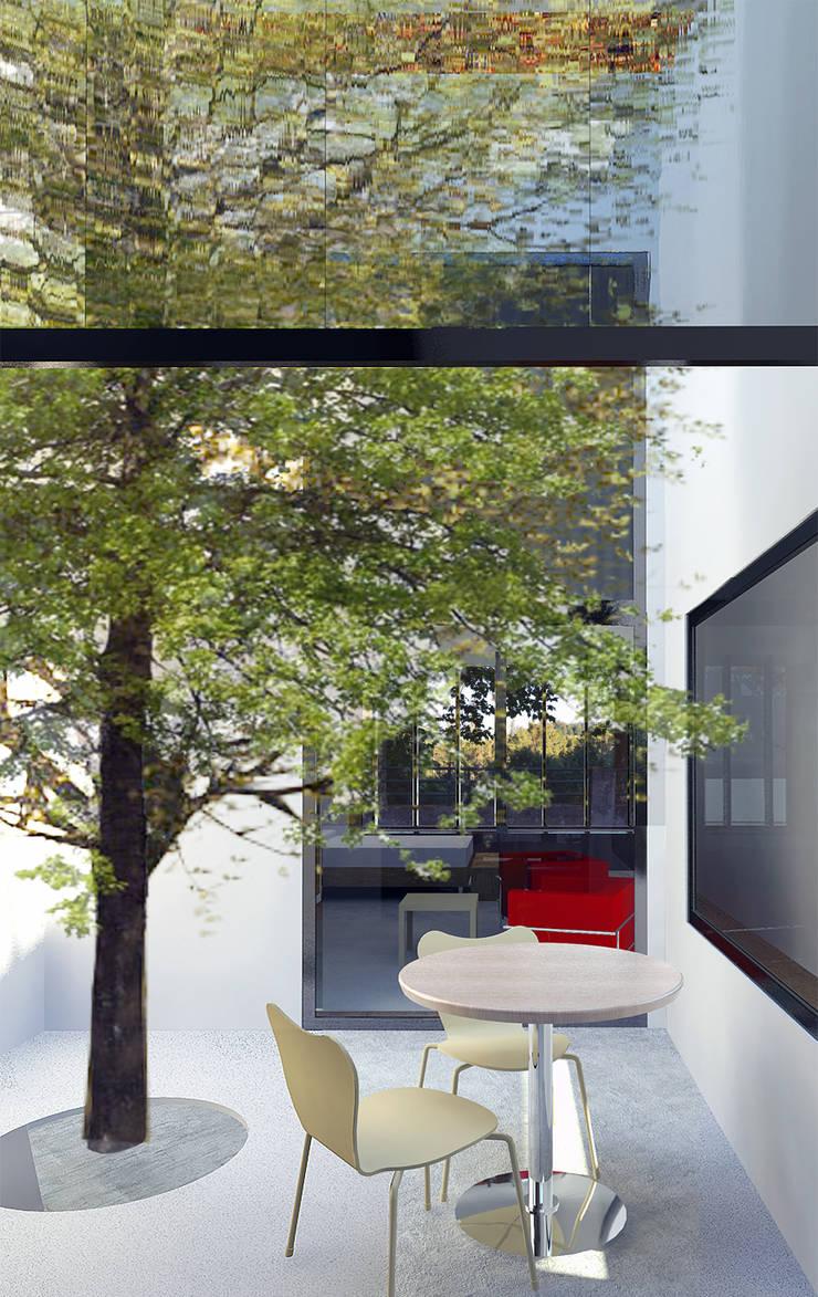 La Vaqueria: Jardines de invierno de estilo  de ACA.Alfonso Cort Arquitecto