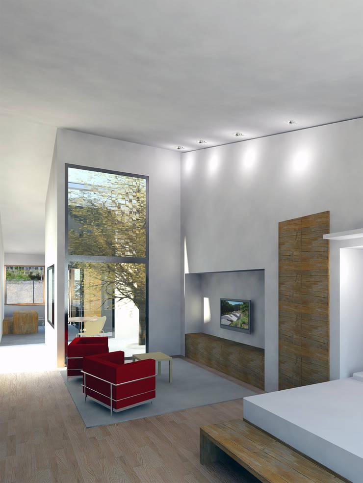 La Vaqueria: Salones de estilo  de ACA.Alfonso Cort Arquitecto