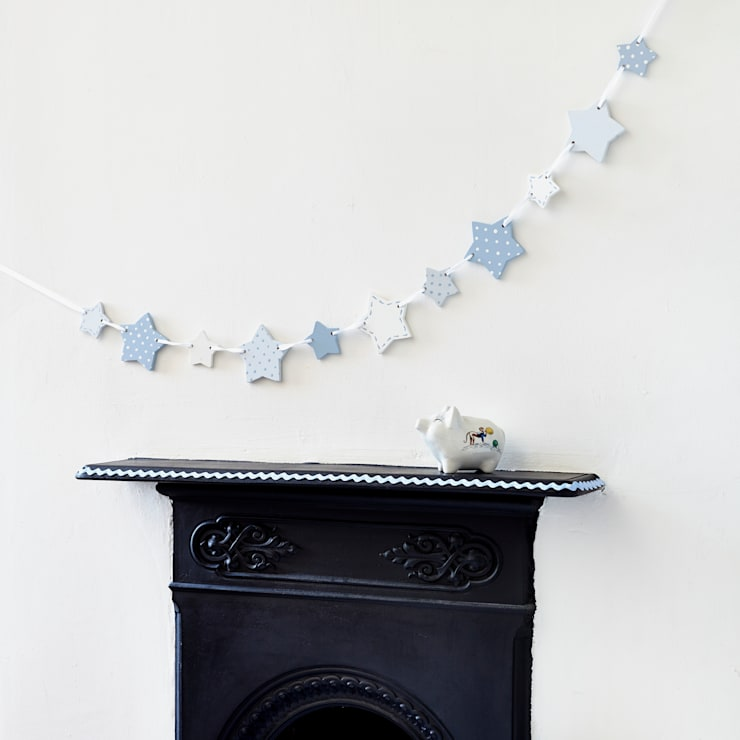 Blue Wooden Star Bunting:  Nursery/kid's room by Altered Chic