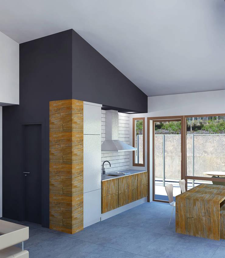 La Vaqueria: Cocinas de estilo  de ACA.Alfonso Cort Arquitecto