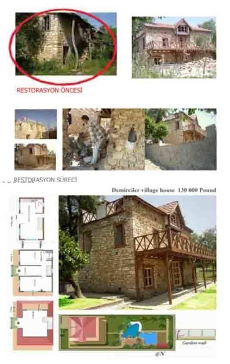 dolunaydın – Demirciler Köyü Taş ev Restorasyon çalışmamız:  tarz