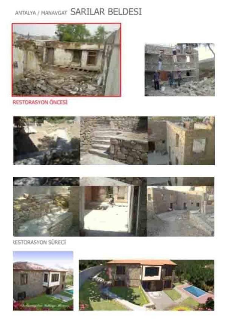 dolunaydın – Sarılar Köyü Taş ev Restorasyon çalışmamız:  tarz