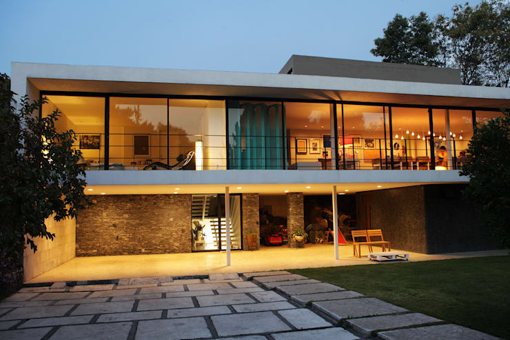 modern Houses by DF ARQUITECTOS