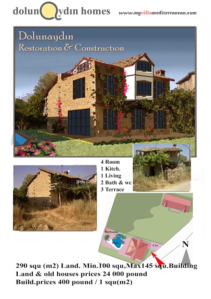dolunaydın – Hocalar Köyü Taş ev Restorasyon çalışmamız:  tarz