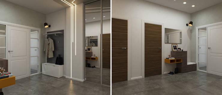 Минималистичный лофт: Коридор и прихожая в . Автор – Center of interior design, Минимализм