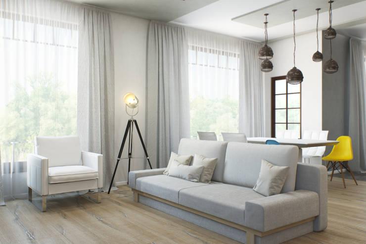 Минималистичный лофт: Гостиная в . Автор – Center of interior design, Минимализм