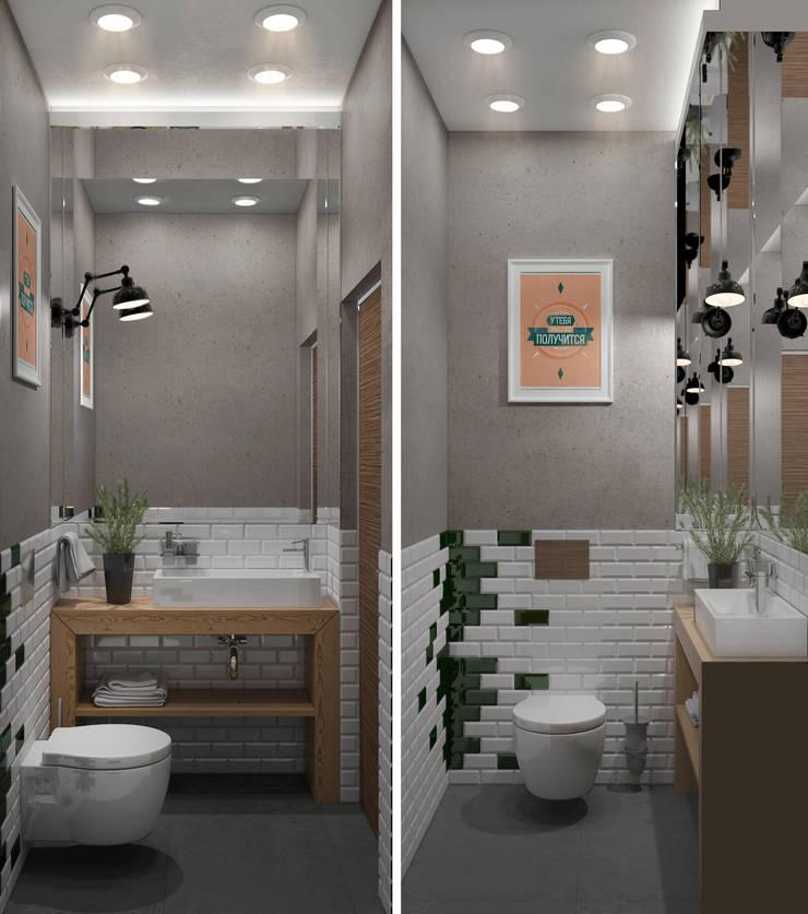 Минималистичный лофт: Ванные комнаты в . Автор – Center of interior design, Минимализм
