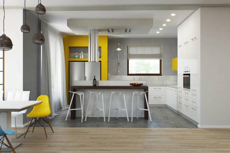 Минималистичный лофт: Кухни в . Автор – Center of interior design, Минимализм