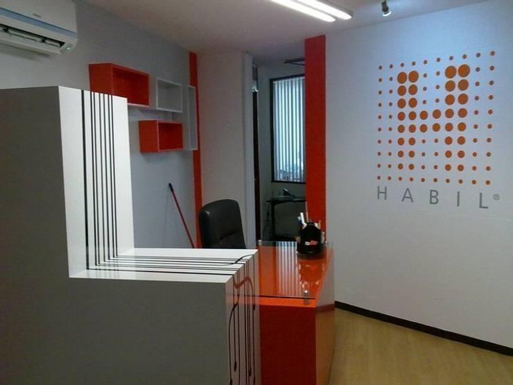 IMAGEN FINAL DEL PROYECTO : Edificios de Oficinas de estilo  por AMÉTRICO ESTUDIO