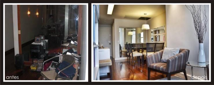 Antes e Depois apartamento Gávea, RJ:   por ARQUITETURA - Camila Fleck