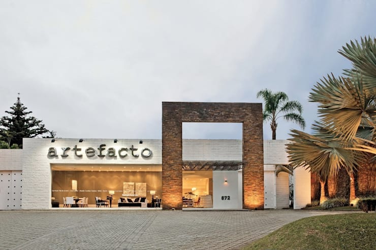 Fachada - Artefacto Curitiba: Terraços  por Artefacto Curitiba,Moderno Concreto