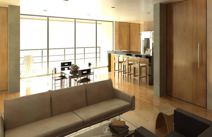 Casa Ocejo: Cocinas de estilo  por Lozano Arquitectos
