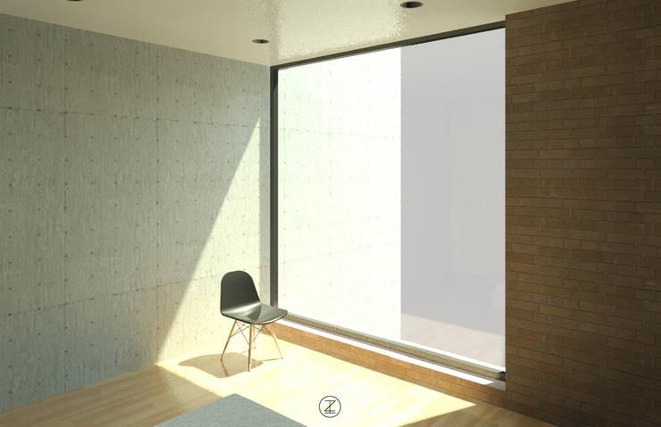 Casa Ocejo: Recámaras de estilo  por Lozano Arquitectos
