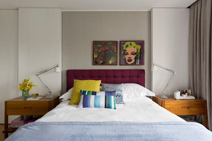 Panamby Apartment: Quartos  por DIEGO REVOLLO ARQUITETURA S/S LTDA.