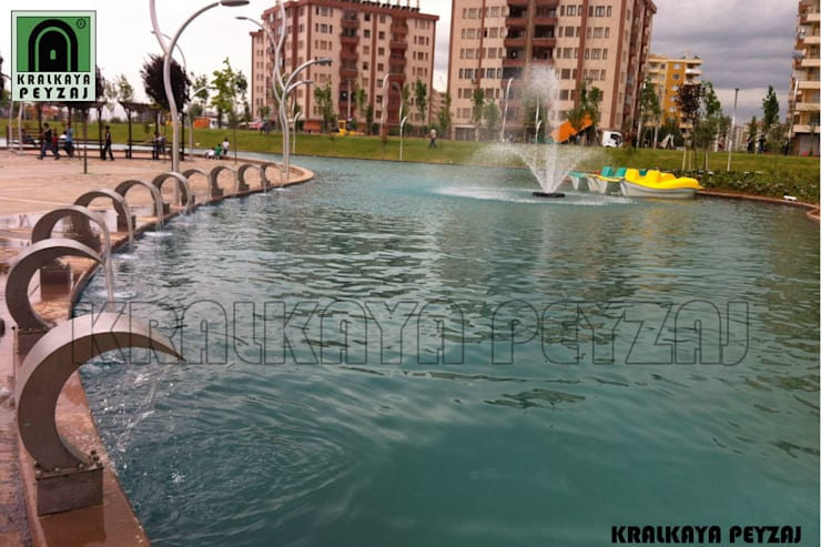 Kralkaya Peyzaj Havuz Fıskiye Sist. ve Pompa Mim. Müh. İnş. Ltd. Şti  – Bağlar Belediyesi / Diyarbakır - Göletli Park:  tarz Havuz